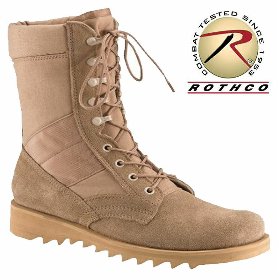 BOOT Desert Tan 10  - GI Jungle Style with Wave or Ripple Sole redhco 5058