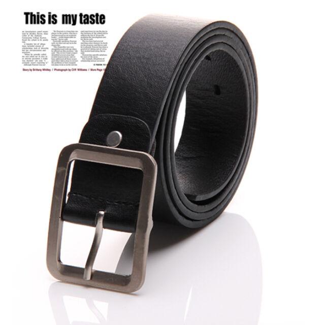 Fashion Men's Casual Dress Faux Leather Belt Buckle Waist Strap Belts New