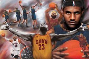 961a26c45b5d5 Details about LeBron James Montage Cleveland Cavaliers Sports Poster Print  NBA New 36x24
