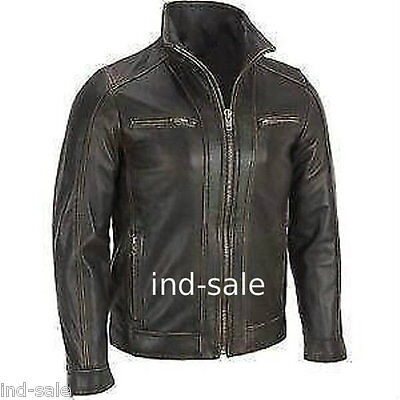 Oil Pull leather Custom Tailor Made Distressed Thick Jacket Biker Designer