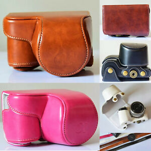 Fashion-PU-Leather-Camera-Case-bag-for-Sony-Alpha-A6000-A6300-With-16-50mm-Lens
