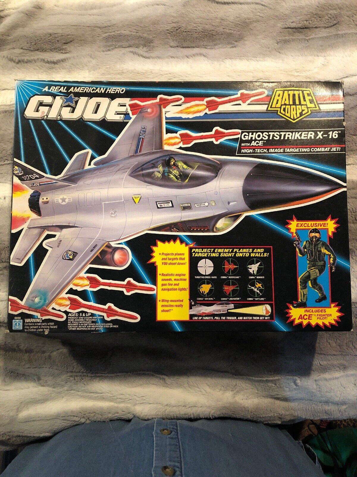 G.I. JOE GHOSTSTRIKER X-16  Battle Corps,with Ace Pilot New Sealed HTF