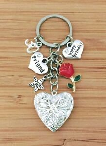 Image Is Loading Personalised HAPPY BIRTHDAY Gifts Charm Keyring 16th 18th