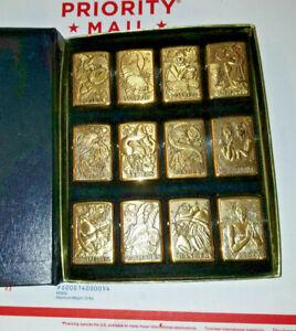 VTG-Barrett-Smythe-Signs-of-the-Zodiac-Collection-Zippo-Lighter-Polished-Brass