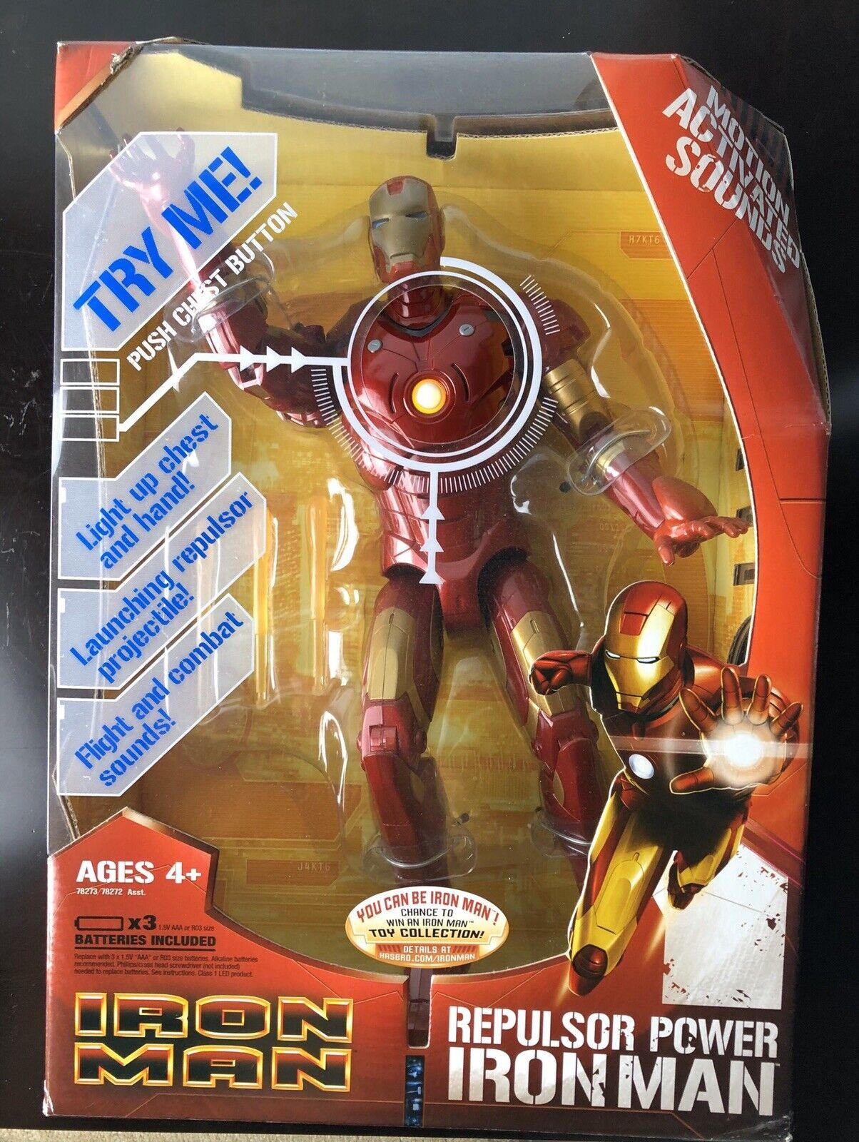 "Hasbro 2008 Marvel Iron uomo Repulsor energia Iron uomo 12"" azione cifra"
