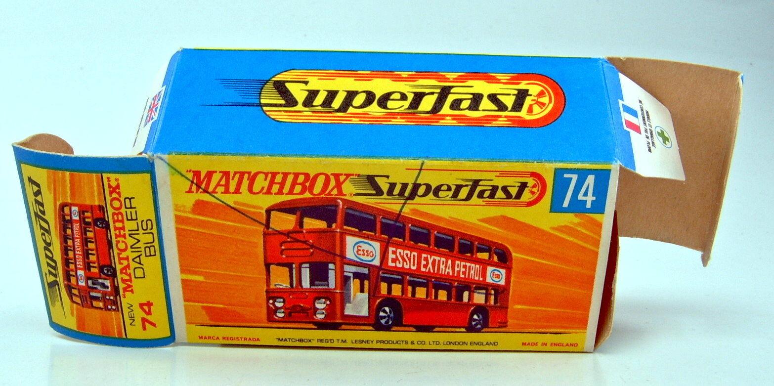 Matchbox Superfast Nr. 74A 74A 74A Daimler Bus dunkelred  ESSO  top in Box 29097f