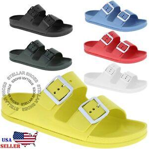 NEW-Women-s-Slide-Sandal-Comfort-Slip-On-Sandal-Footbed-Platform-EVA-Flat-Sandal