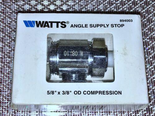 WATTS Angle  Supply Stop 5//8 X 3//8 OD Compression.