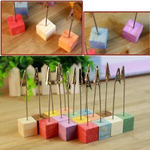 5-Stk-Cube-Memo-Clip-Name-Platz-Kartenhalter-Tischnummer-Foto-Hinweis-Stand-L8Y2