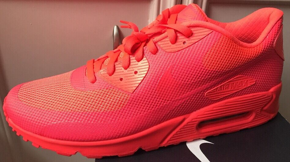 Nike NikeiD Air Max 90 AM90 Red Mono Bright Infrared Independence Day Og Mens 15