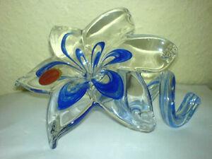 MURANO-Blume-Bluete-Vase-Glas-Glass-Flower-15-cm