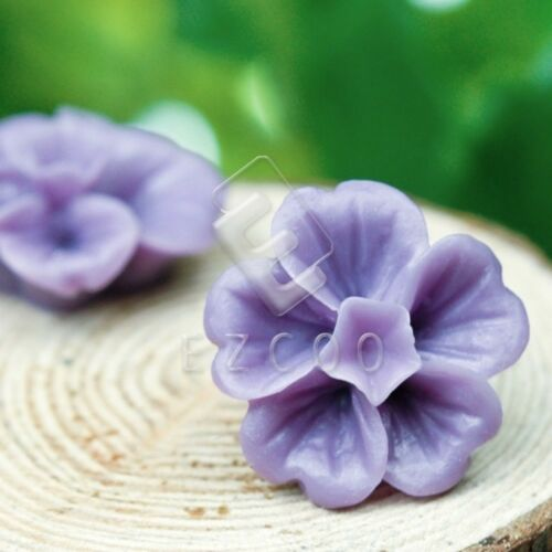 6//14pcs Flower Resin Flatback Cabochons Cameo Scrapbookings 13x13x6mm HCRB0574