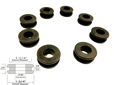 "Lot of 8 Large Rubber Grommets 1.5/"" Fits 1-3//4/"" Holes 1-1//2/"" Inside Diameter"