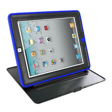 360 Rotating Swivel Hybrid Armor Hard Case Cover w/ Folding Stand for iPad 2 3 4