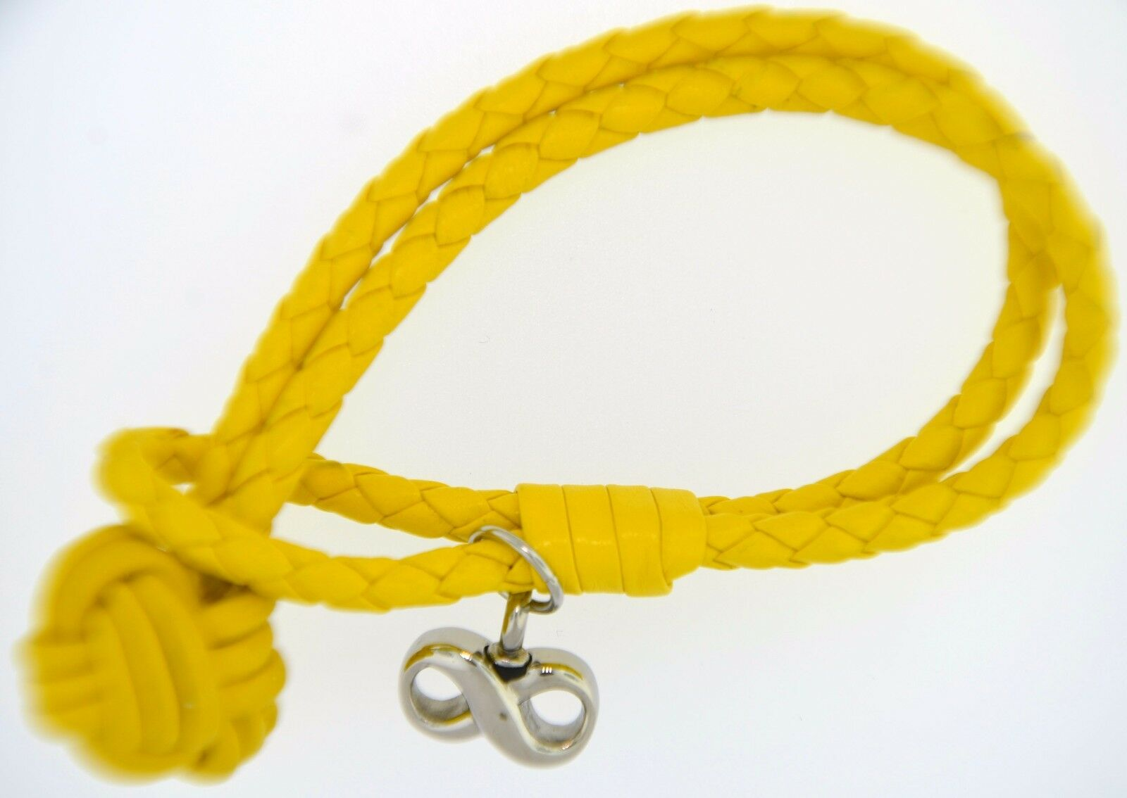 Amarillo Trenzado Pulsera con Joyas para Cremación Urna Recuerdo Infinito Colgante