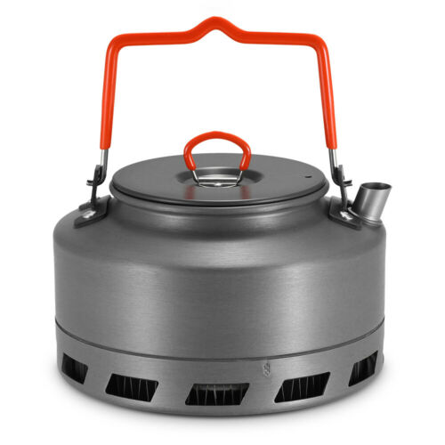 1.1L Outdoor Camping Heat Exchanger Tea Coffee Pot Portable Picnic Water Kettle