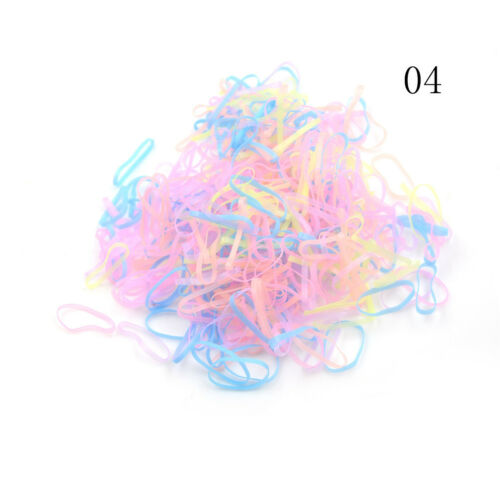 500Pcs//Pack Candy Color Elastic Hair Bands Kids Hair Holder Hair Accessories X