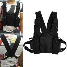 Walkie Talkie Chest Pocket Pack Backpack Handset Holder Bag for Two Way Radio