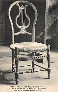 Postcard-Arts-Decorative-Furniture-Chaise-Wood-Natural-XVIII-Edit-ND-436