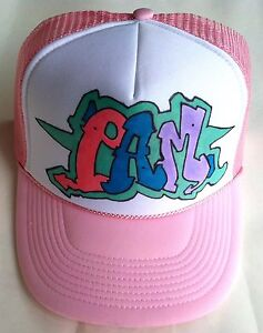 8ce37f82 Pam Your Name Gift Trucker Hats Caps Personalized Custom Graffiti ...