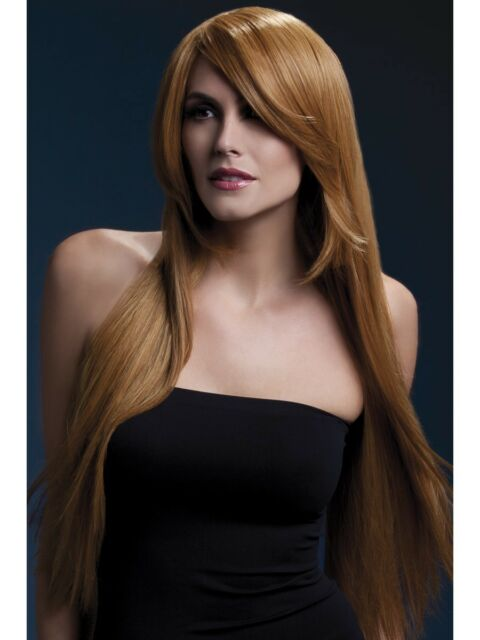 Heat Resistant Wig Washable Styleable Ladies Wig Fancy Dress Auburn Wig 71cm