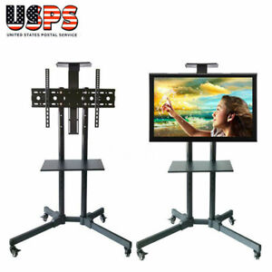Heavy-Duty-TV-Mobile-Cart-Stand-Plasma-LCD-LED-Flat-Screen-w-Wheels-Up-to-65-034