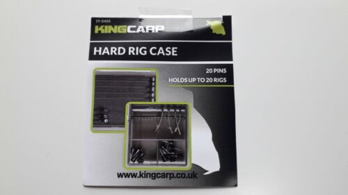 KING CARP HAIR RIG HARD CASE COMPLETE WITH PINS CARP COARSE FISHING