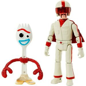 Disney Pixar Toy Story 4 Forky & Duke Caboom 17cm Action Figure Mattel NEW