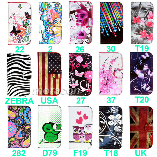 For Samsung Galaxy Xcover 2 S7710 Flower Flip Stand PU Leather Case Cover+Stylus