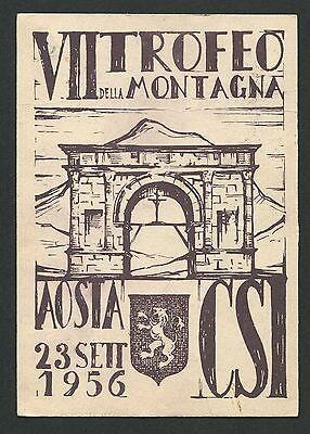Hingebungsvoll Italien 1956 Mostra Filatelica Montagna Cartolina Ausstellung Carte C9448 Buy One Give One