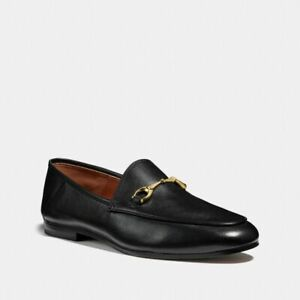 New-Coach-FG3110-Haley-Loafer-Slip-On-Shoes-Black-Leather