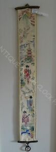 HOUSE-BELL-PULL-CORD-JAPANESE-EMBROIDERY-NICE-HARDWARE