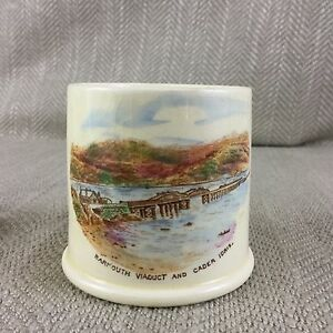Antique-Match-Holder-Pot-Jar-Barmouth-Viaduct-Cader-Idris-Crown-Devon-Pottery