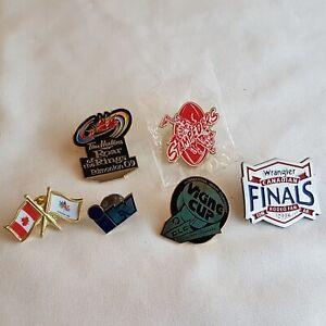 Lot-of-6-Pins-2009-Roar-of-the-Rings-Edmonton-Viking-Cup-Stampeders-Lot-D