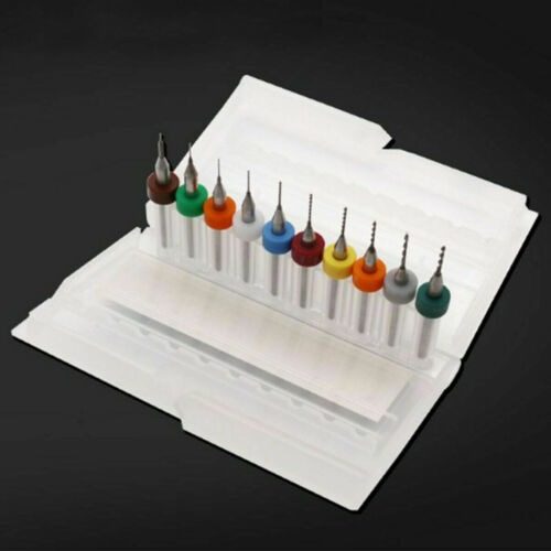 10pcs 0.3-1.2mm PCB CNC Print Circuit Board Carbide Micro Drill Bits Set Tool