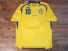 Ibrahimovic Sweden PSG Shirt Jersey Player Issue Match Un Worn EURO 2008 08
