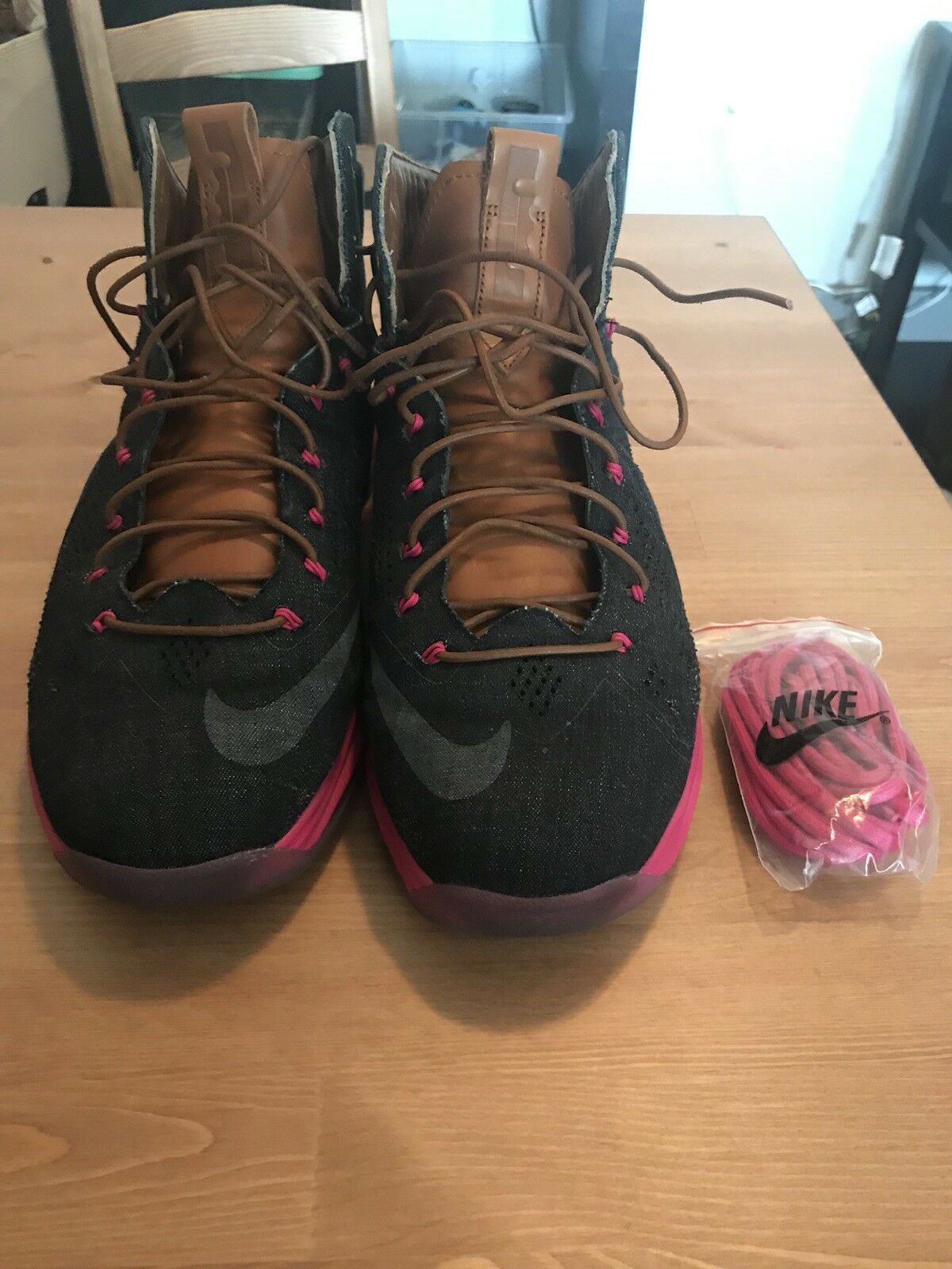 Nike Lebron 10 X Denim Cork Lifestyle SB South Beach PE LIMITED Size 12