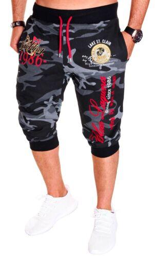 Uomo Bermuda Short Shorts Capri Pantaloni corti 3//4 mimetico estate donna nuovo