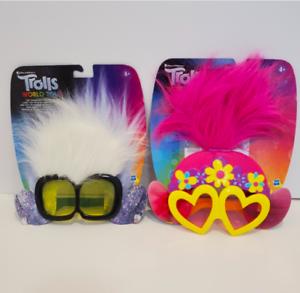 Set of two Trolls world tour Tiny Diamonds & Poppy's Rockin' Glasses Shades