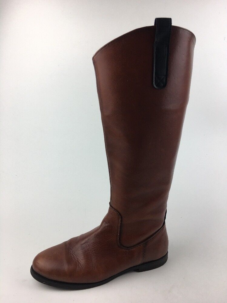 Sebago Damenschuhe Plaza Tall Riding Boot Cuir Cognac Größe 10 M