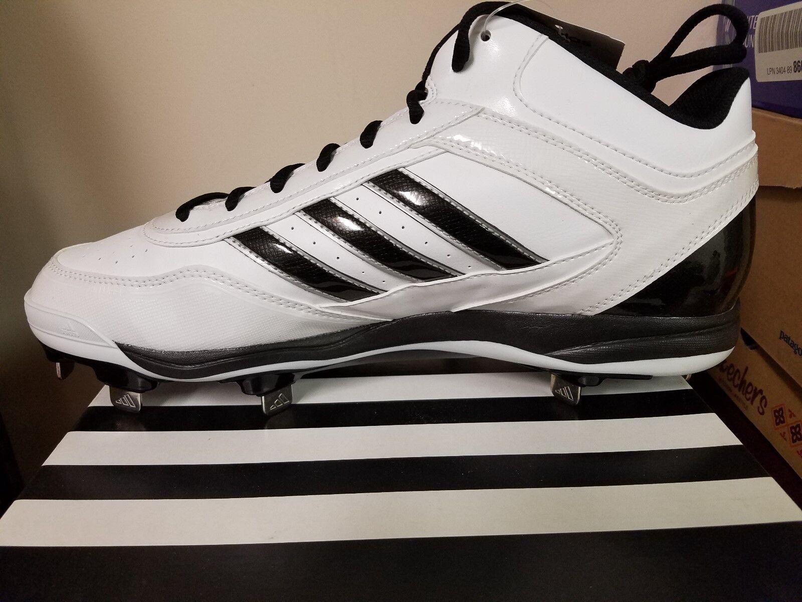 adidas mens excelsior (metal met atletico baseball scarpe bianco confezioni pennino