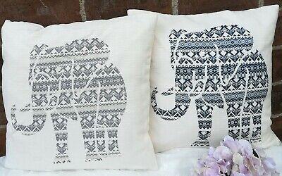 Indisch Elefant Mandala Kissenbezug Schutzhülle Böhmische Dekor Schein 2 Stück