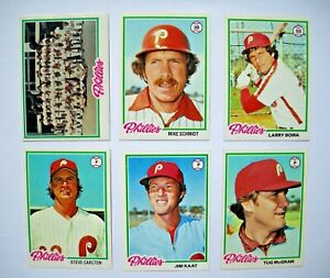 1978-Topps-Philadelphia-Phillies-Team-Set-27-Cards-Near-Mint-NM-to-Mint