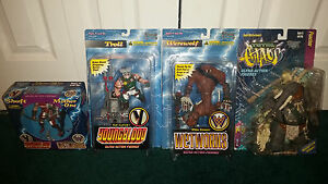 Mcfarlane Total Chaos Wetworks Youngblood LOT Troll Werewolf Poacher + 2-Pack!