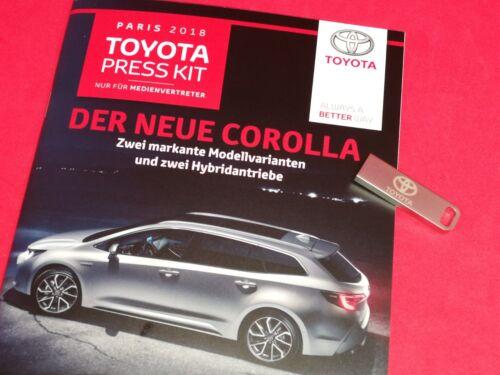 Der neue COROLLA * TOYOTA Range Pressemappe mit USB Stick  Paris 2018