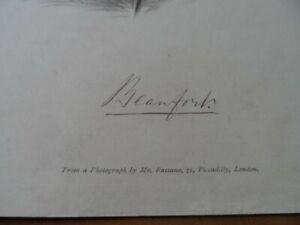 Old-antique-colour-print-Duke-of-Beaufort-Old-political-world-leaders