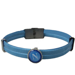 Bracelet-NAPLES-official-product-eco-leather-single-colour-crest-central