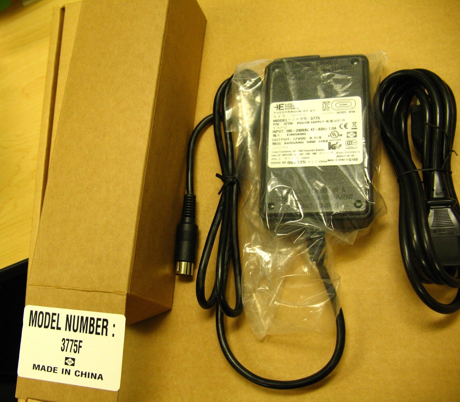 Elpac Power Systems 3775f Supply 12v Dc 415a 50w Ebay 12vdc 125 Amp Regulated Switching