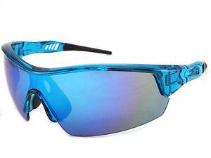 SALE-chien-sport-Lunettes-de-soleil-bord-Xtal-cristal-bleue-bleue-Fusion-miroir-58064