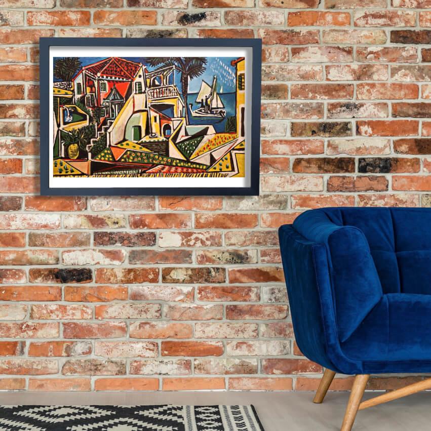 Pablo Picasso - Mediterranean Landscape Wand Kunst Poster Drucken